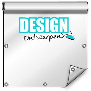 Buitendoek 150x200 cm - met ringen - Spandoek - staand - DesignOntwerpen