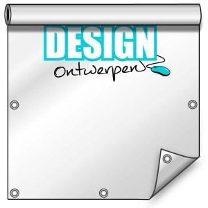 Buitendoek 150x250 cm - met ringen - Spandoek - staand - DesignOntwerpen