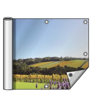 Buitendoek 200x100 cm - met ringen - Spandoek - liggend - DesignOntwerpen