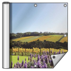Buitendoek 200x150 cm - met ringen - Spandoek - liggend - DesignOntwerpen