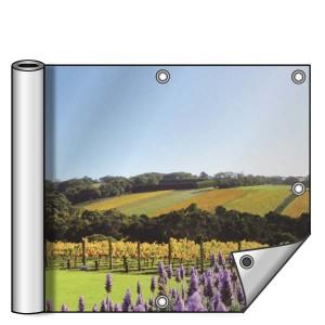 Buitendoek 250x100 cm - met ringen - Spandoek - liggend - DesignOntwerpen