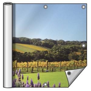 Buitendoek 250x150 cm - met ringen - Spandoek - liggend - DesignOntwerpen