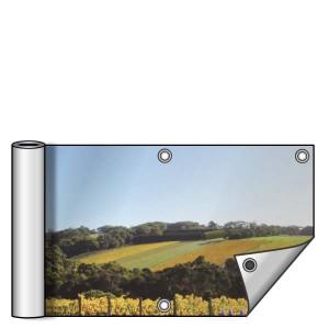 Buitendoek 250x50 cm - met ringen - Spandoek - liggend - DesignOntwerpen