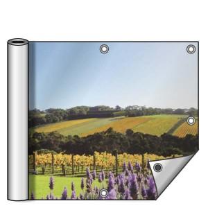 Buitendoek 300x100 cm - met ringen - Spandoek - liggend - DesignOntwerpen