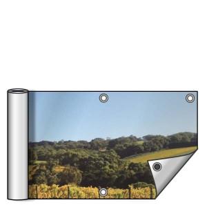 Buitendoek 300x50 cm - met ringen - Spandoek - liggend - DesignOntwerpen