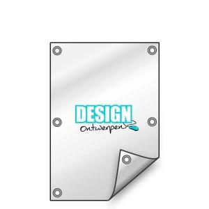 Buitendoek 50x100 cm - met ringen - Spandoek - staand - DesignOntwerpen