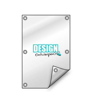 Buitendoek 50x120 cm - met ringen - Spandoek - staand - DesignOntwerpen