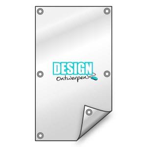 Buitendoek 50x150 cm - met ringen - Spandoeken - DesignOntwerpen