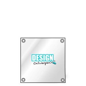 Buitendoek 50x50 cm - met ringen - Spandoek - vierkant - DesignOntwerpen