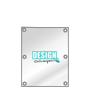Buitendoek 50x70 cm - met ringen - Spandoek - staand - DesignOntwerpen
