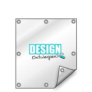 Buitendoek 70x100 cm - met ringen - Spandoek - staand - DesignOntwerpen