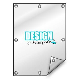 Buitendoek 70x150 cm - met ringen - Spandoek - staand - DesignOntwerpen