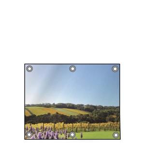 Buitendoek 70x50 cm - met ringen - Spandoek - liggend - DesignOntwerpen
