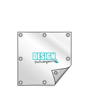 Buitendoek 70x70 cm - met ringen - Spandoek - vierkant - DesignOntwerpen
