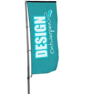 Baniervlag 100x250 cm - Baniervlag ontwerpen - DesignOntwerpen