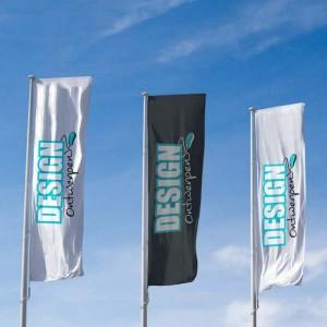 Baniervlag 150x400 cm - Baniervlag ontwerpen - DesignOntwerpen