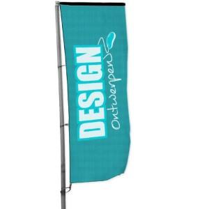 Baniervlag 100x300 cm - Baniervlag ontwerpen - DesignOntwerpen
