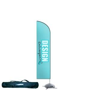 Beachflag small 60x195 cm - Beachflag ontwerpen - DesignOntwerpen