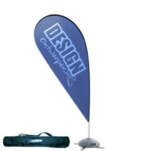 Dropflag large 117x282 cm - Beachflag ontwerpen - DesignOntwerpen