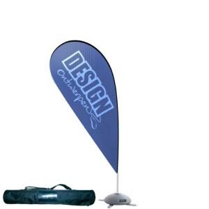 Dropflag medium 104x211 cm - Beachflag ontwerpen - DesignOntwerpen