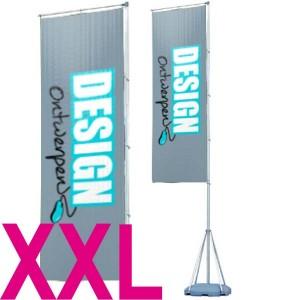 Squareflag XXL 110x540 cm - Beachflag ontwerpen - DesignOntwerpen