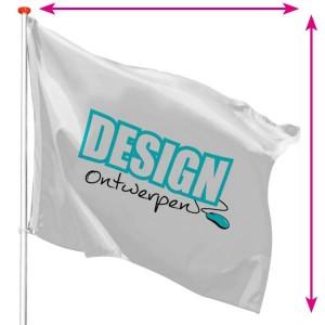 Baniervlaggen - Vlag op maat - mastvlag liggend