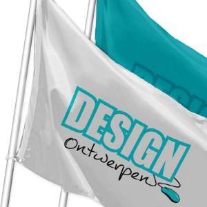 Baniervlaggen - Vlag op maat - mastvlag staand